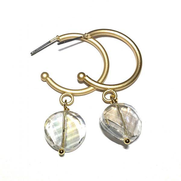matt-gull-blank-øreringer-ørepynt
