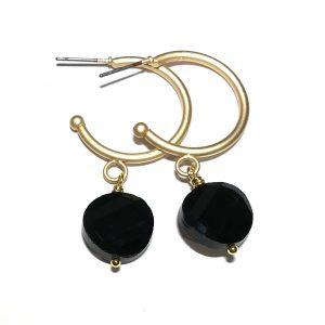 matt-gull-sort-øreringer-ørepynt