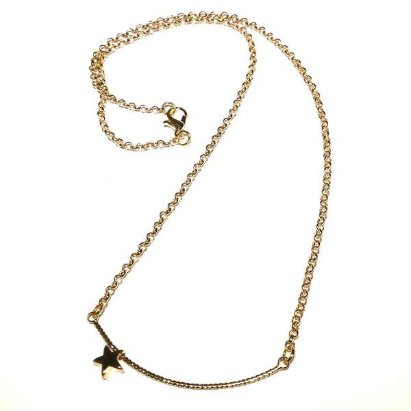 klassisk-stjerne-gull-smykke-halskjede