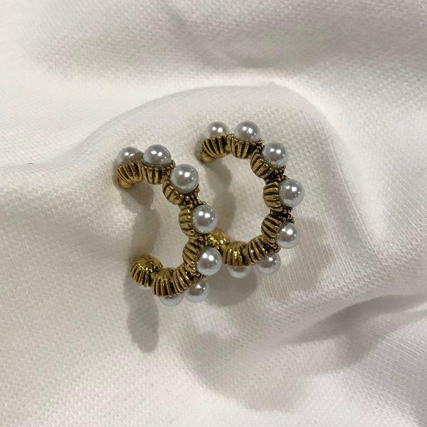 gull-perle-boho-behem-øreringer-ørepynt