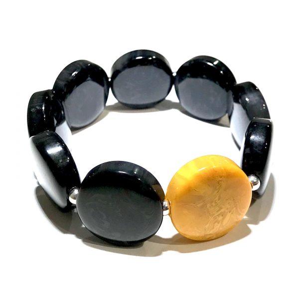 oker-gul-sort-armbånd