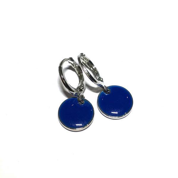 sølv-blå-øreanheng-ørepynt