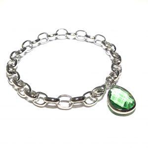 grønn-glass-dråpe-klassisk-armbånd