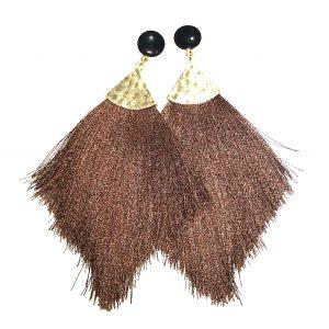 brun-dusk-tassel-bohem-øreanheng-ørepynt