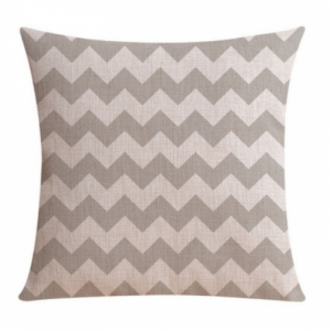 sikksakk-brun-hvit-pute-skandinavisk-minimalistisk-interiør