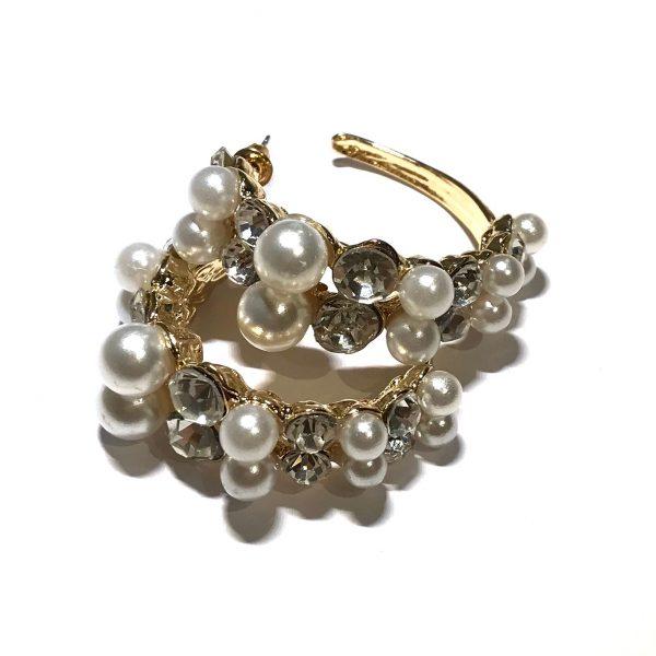 gull-boho-bohem-perle-bling-øreringer-ørepynt
