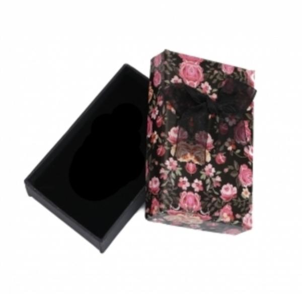 sort-rosa-blomst-sløyfe-gaveeske
