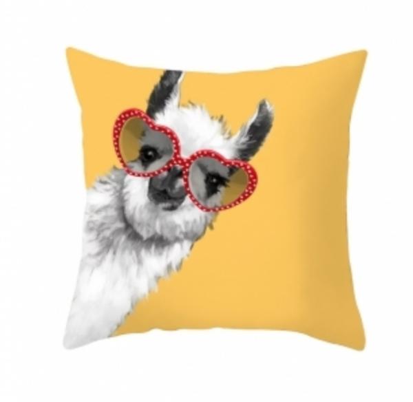 alpakka-hjerte-briller-gul-pute-interiør