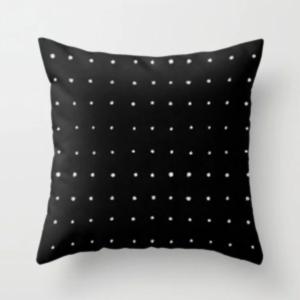 sort-pute-hvite-prikker-interiør