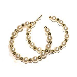 gull-perle-øreringer
