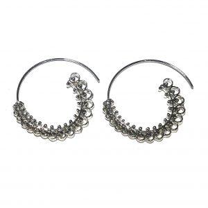 bohem-sølv-øreringer