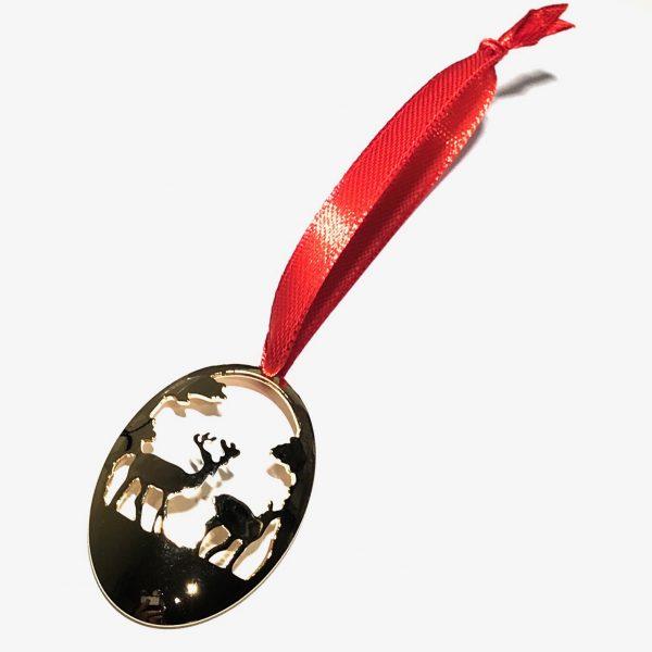 gull-hjort-rød-juletrepynt-julepynt