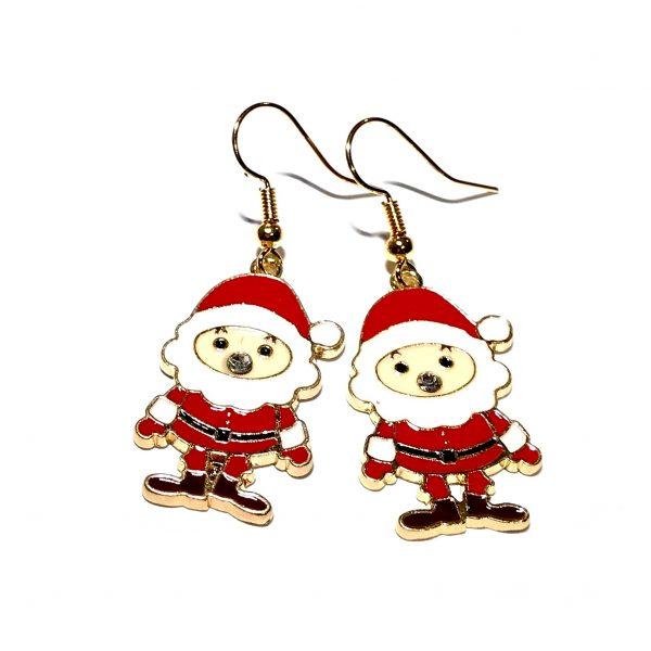 rød-julenisse-jul-ørepynt-øreanheng