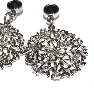 sort-sølv-bling-glitter-ørepynt-øreanheng