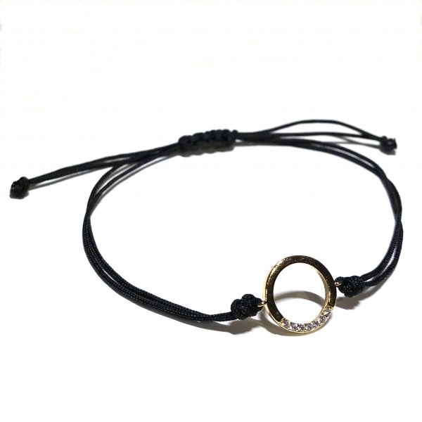 sort-klassisk-justerbart-onesize-armbånd