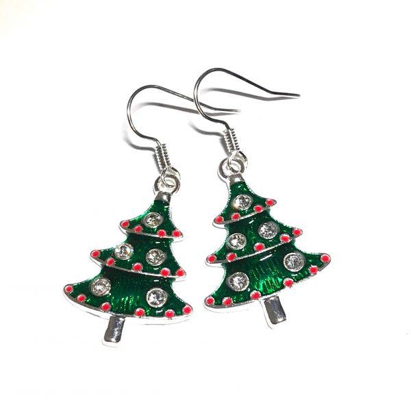grønn-juletre-jul-øreanheng-ørepynt