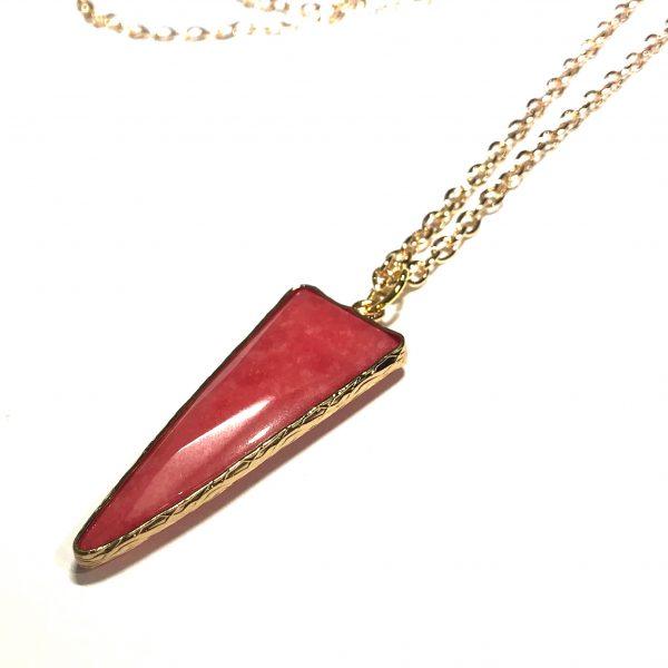 rød-stein-smykke-halskjede