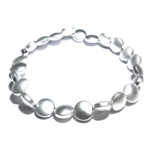 sølv-blodstein-hematitt-elastisk-armbånd
