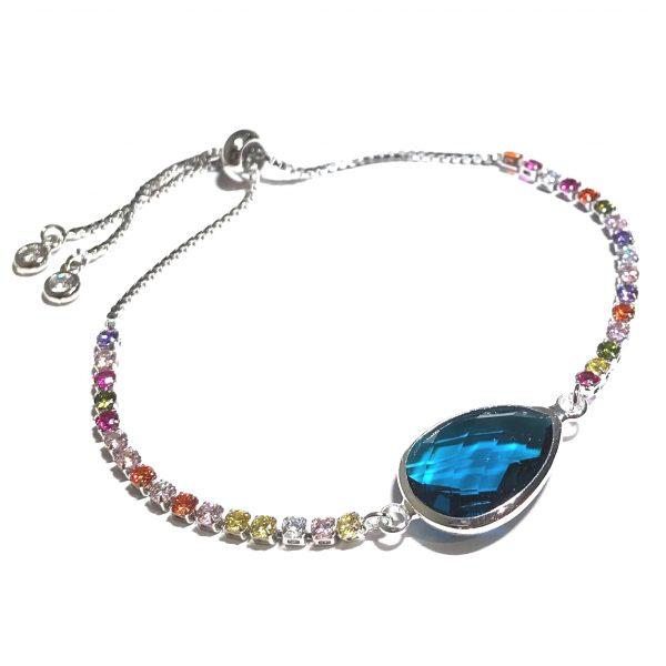 turkis-fargerikt-justerbart-armbånd