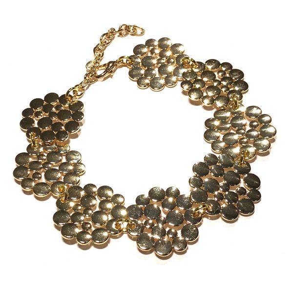 gull-blomst-sirkel-armbånd