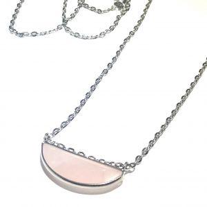 rosa-rosenquartz-sølv-smykke-halskjede