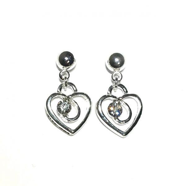 sølv-hjerte-øredobber-ørepynt-øreanheng