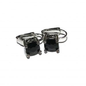 sølv-sort-øreklips-klips-øredobber-ørepynt