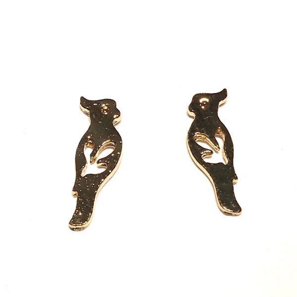 gull-fugl-papegøye-øredobber-ørepynt