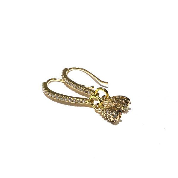 gull-bling-dråpe-øreanheng-ørepynt