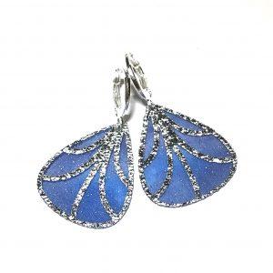 sølv-blå-sommerfugl-vinge-øreanheng-ørepynt