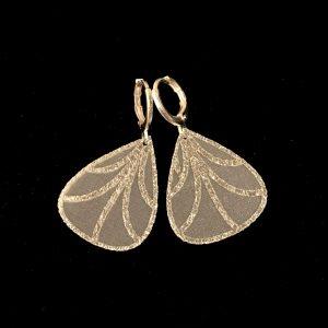 sølv-hvit-sommerfugl-vinge-øreanheng-ørepynt