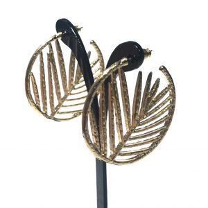 gull-blad-løv-øreringer-ørepynt
