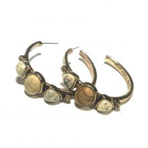 gull-boho-bohem-øreringer