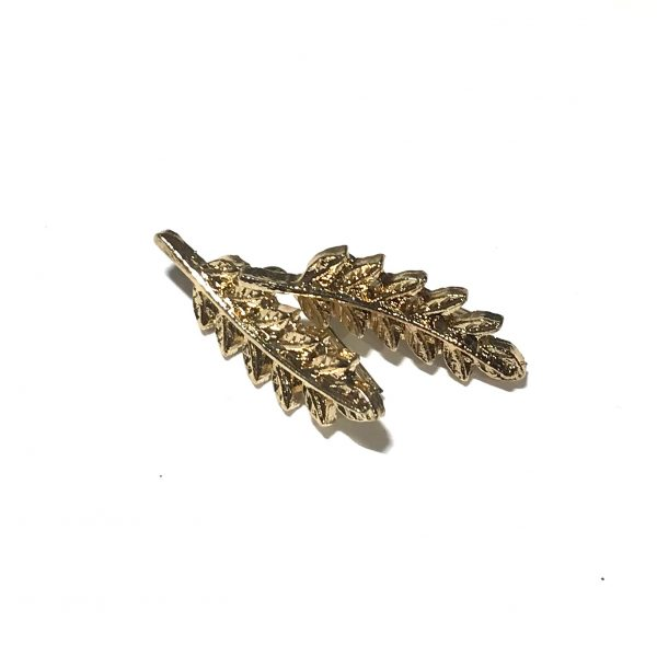 gull-fjær-earcrawler-øredobber-ørepynt