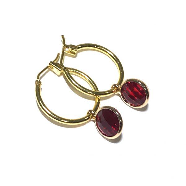 klassisk-elegant-rød-gull-øreringer-ørepynt