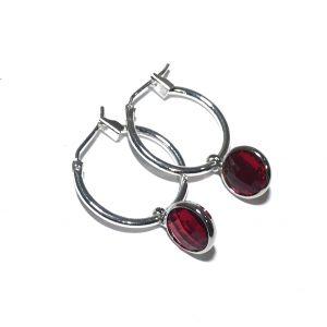 klassisk-elegant-rød-sølv-øreringer-ørepynt