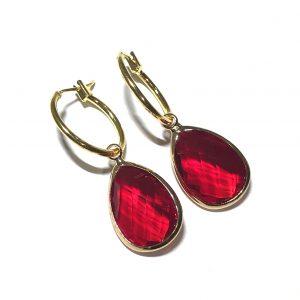 rød-gull-ring-ørering-ørepynt-øreanheng