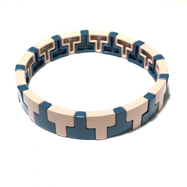 rosa-blå-elastisk-armbånd