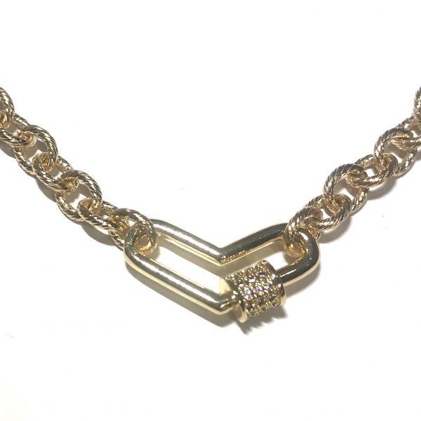 gull-hjerte-elegant-smykke-halskjede