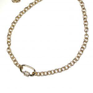 glitter-elegant-klassist-gull-smykke-halskjede