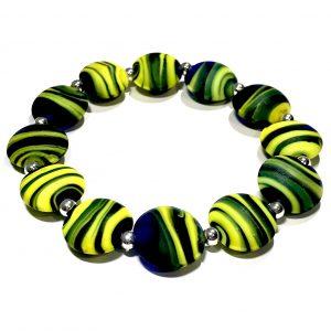 grønn-gul-glass-armbånd