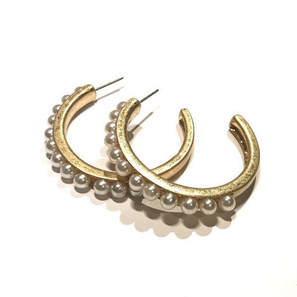 gull-vintage-perle-øreringer