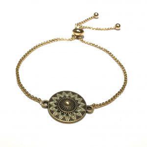 bohem-gull-bronse-armbånd