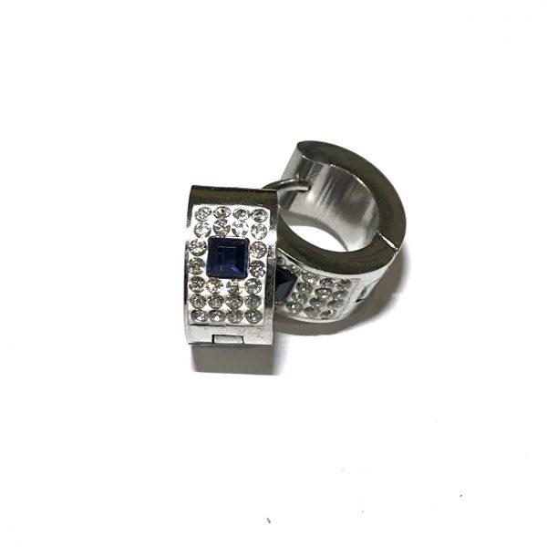blå-bling-stål-øreringer-ørepynt