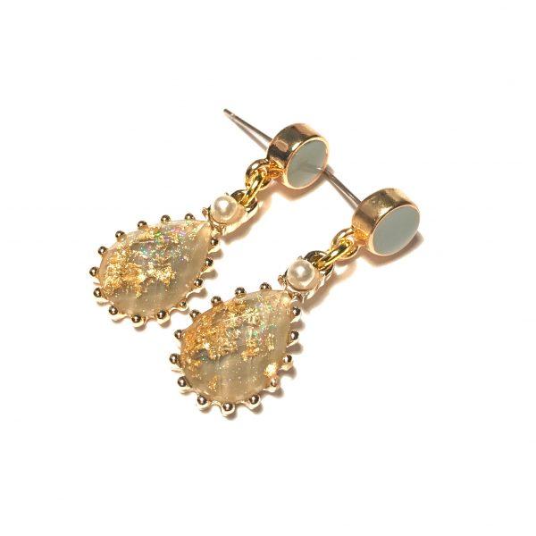 turkis-blå-dråpe-gull-bohem-øreanheng-ørepynt