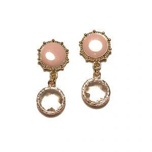 rosa-bohem-romantisk-elegant-øreanheng-ørepynt
