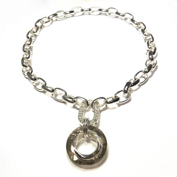 lekkert-grå-glass-kraftig-lenke-smykke-halskjede