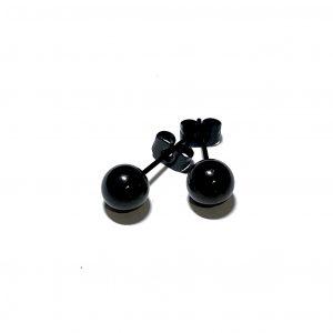 sort-stål-øredobb-ørepynt