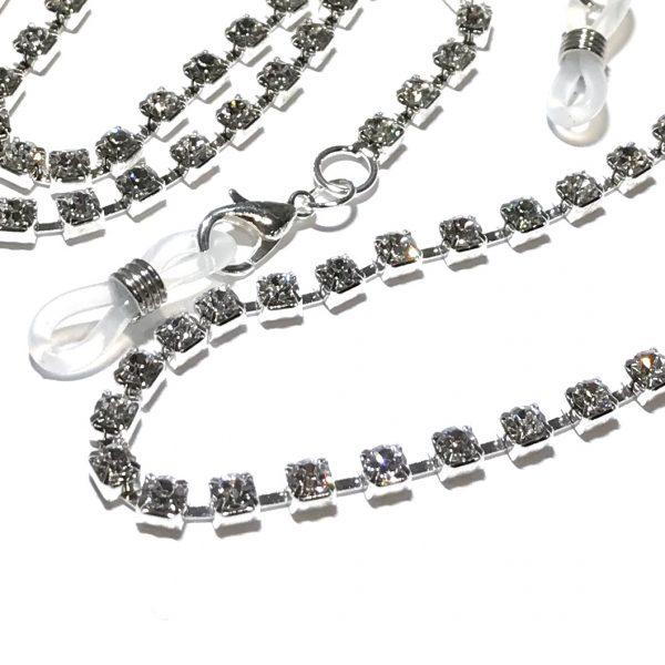 sølv-bling-glitter-brille-lenke