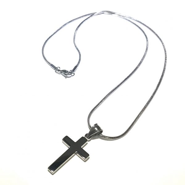 kors-stål-herre-smykke-halskjede